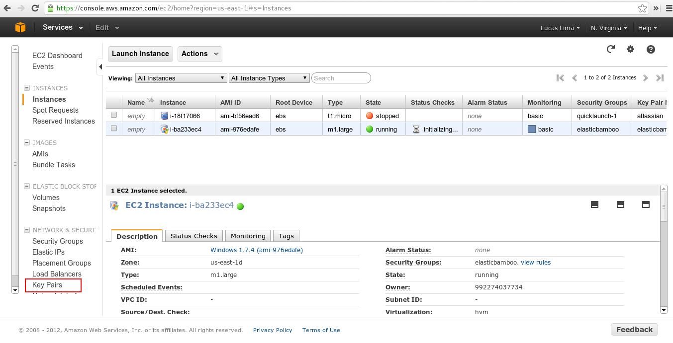 Amazon EC2 key pairs and Linux instances