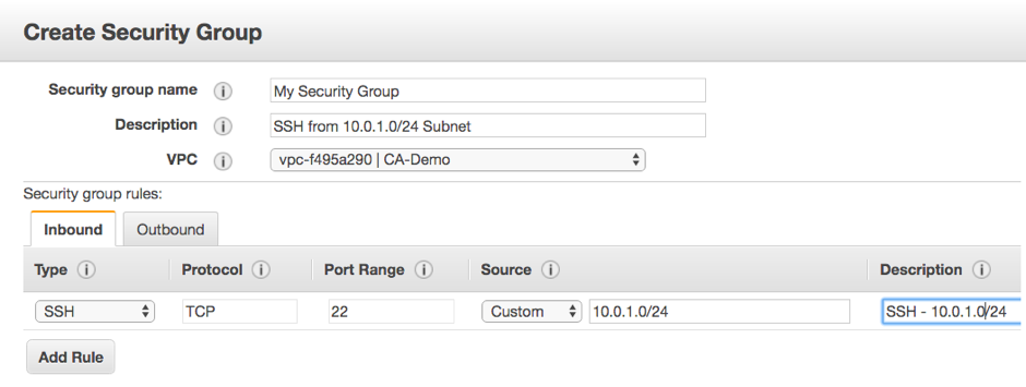 configure security group aws ec2